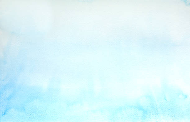 Light Blue watercolor background - abstract ocean stock photo