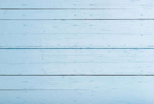 Light blue wood planks background stock photo
