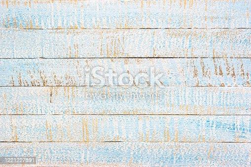 643874908 istock photo Light blue wooden background 1221227891