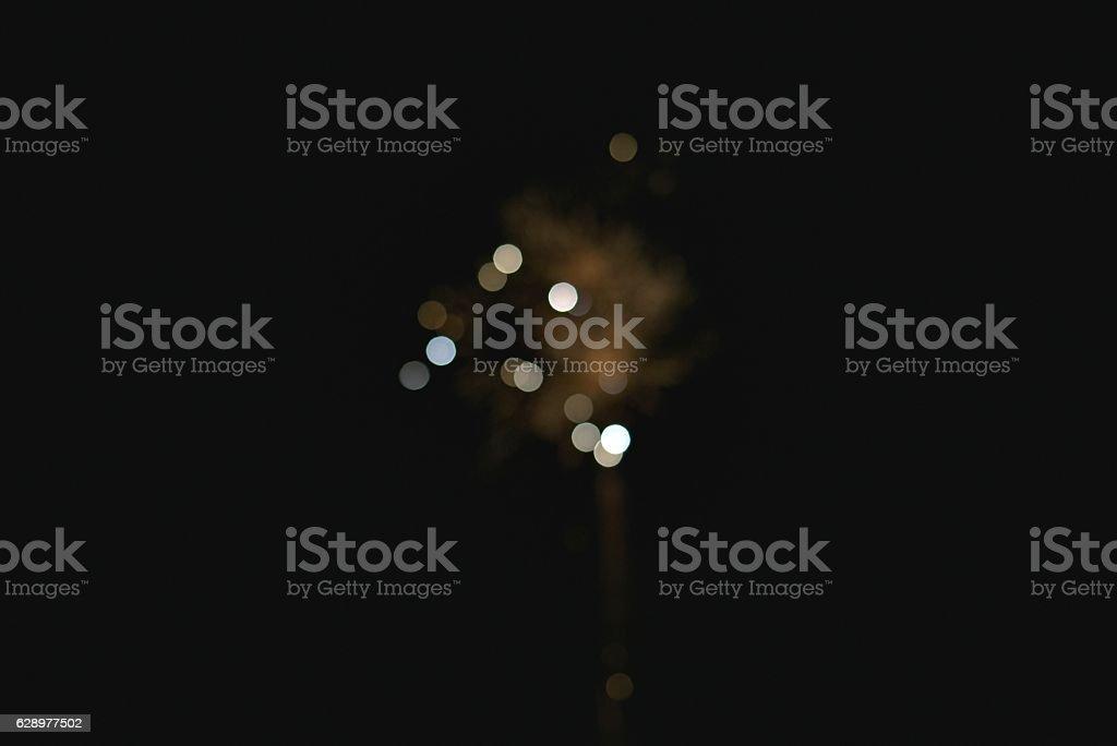 Light blur and defocus bokeh circles. stock photo