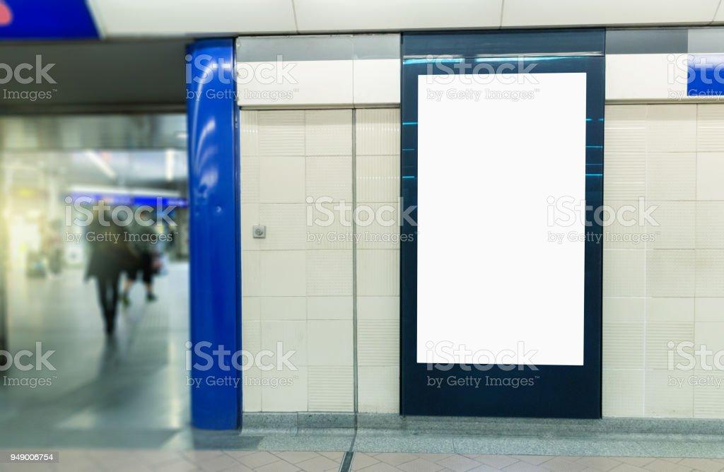 Light box mock up stock photo