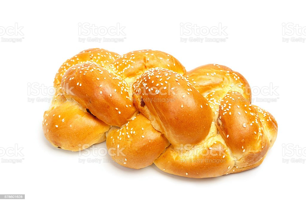 Light braided shabbat challah stock photo