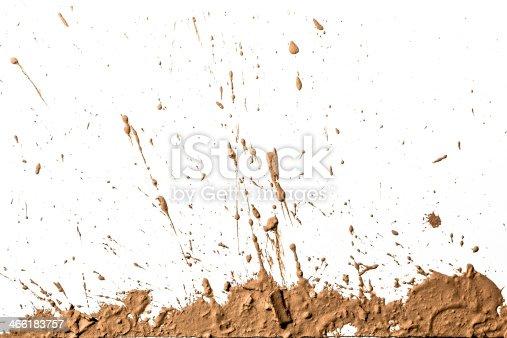 istock Light brown clay artistically sprayed up 466183757