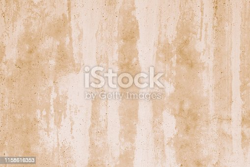 Light brown concrete wall in white stucco. Abstract watercolor pattern. Grunge background in watercolor style. Texture, creative drawing. Beige artistic element. Copy space