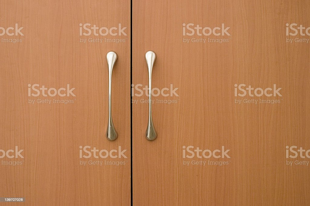 light brown doors royalty-free stock photo