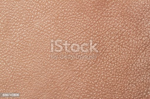 istock Light brown leather texture surface 636742806