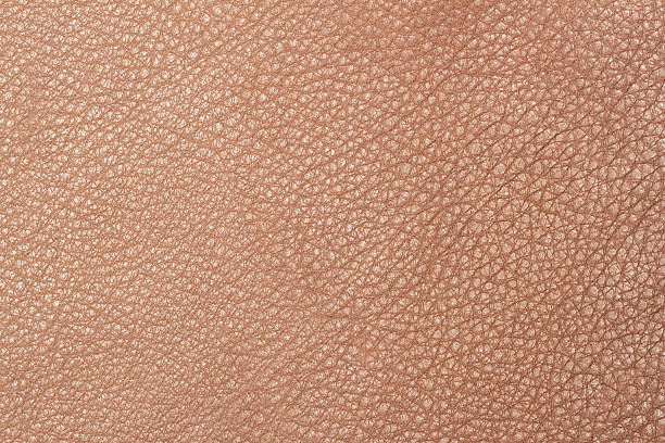 Light brown leather texture surface - Photo