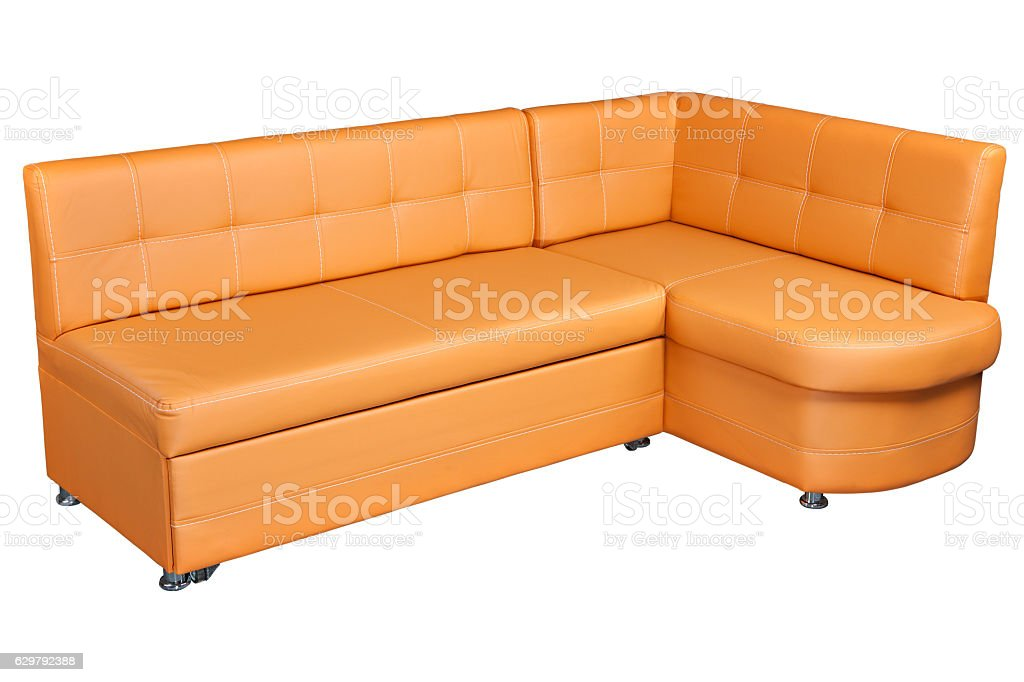 Light Brown Sectional Imitation Leather Corner Sofa Couch ...