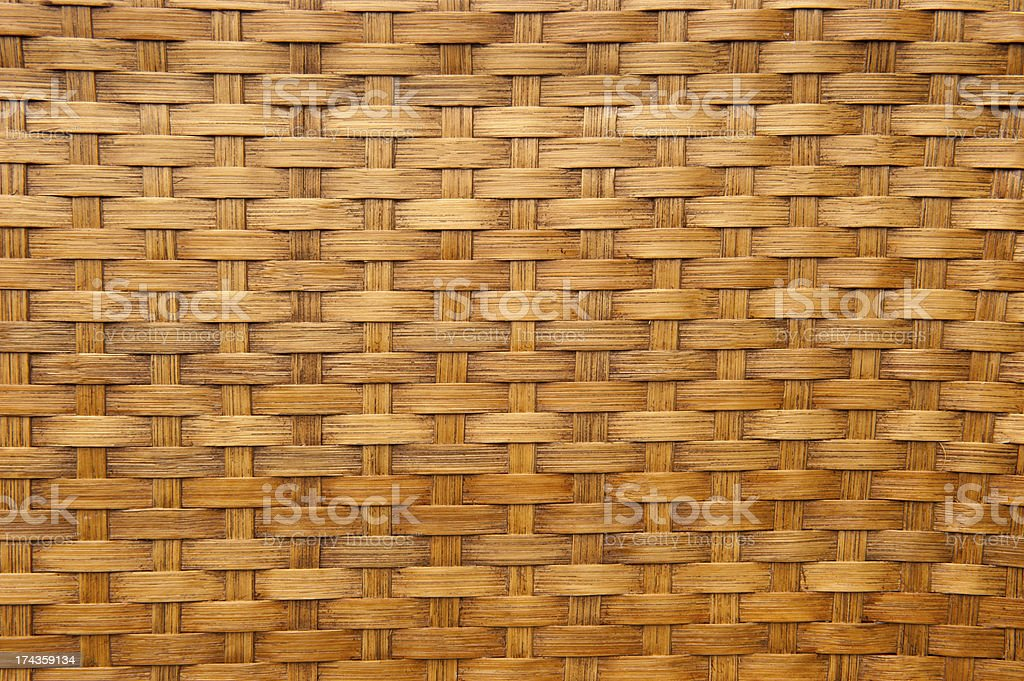 Light brown woven bamboo texture royalty-free stock photo