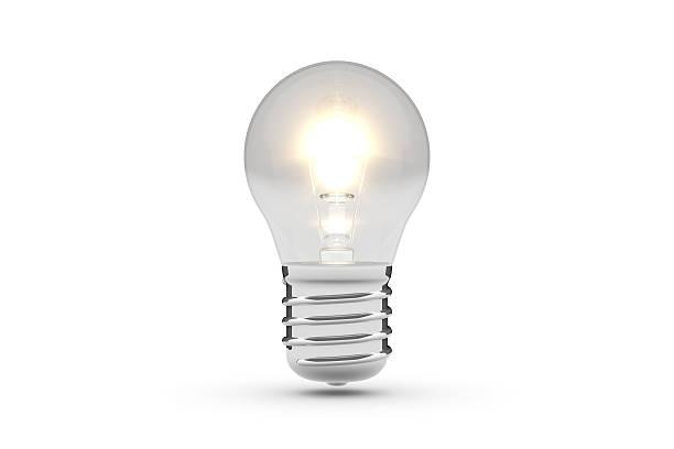 Light Bulb 3D Model (White Background) stock photo