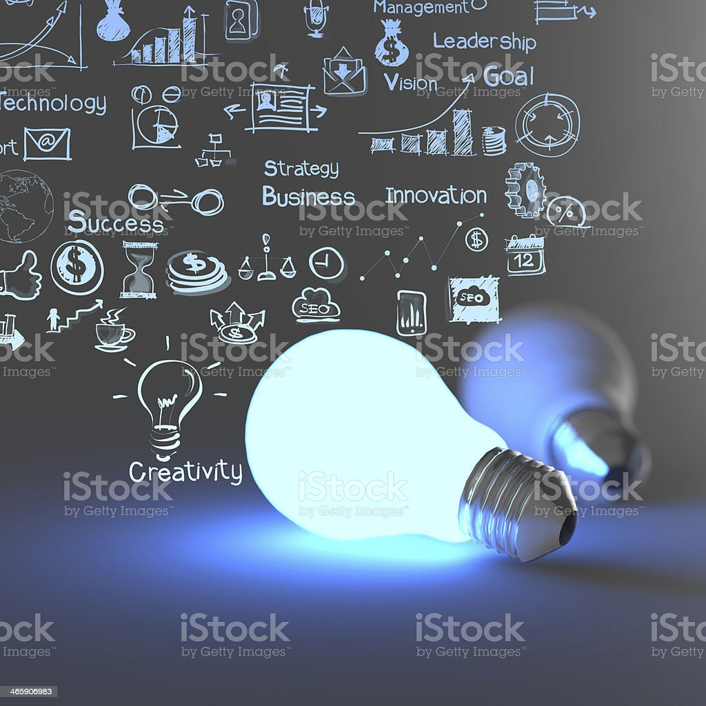 light bulb 3d stock photo