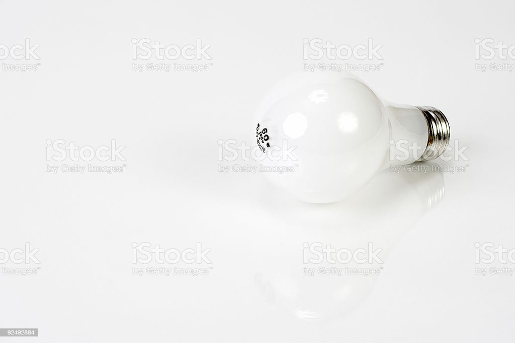 Light Bulb and White royalty-free stock photo