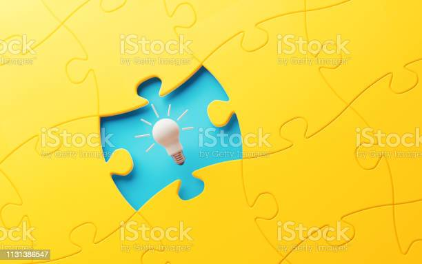 Light bulb and yellow jigsaw puzzle piece over blue background picture id1131386547?b=1&k=6&m=1131386547&s=612x612&h= c0gjaxytfbh9yu 5mklw45mq dgubed09fwyvtsva4=
