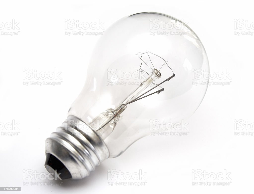 Light bulb at white background royalty-free stock photo