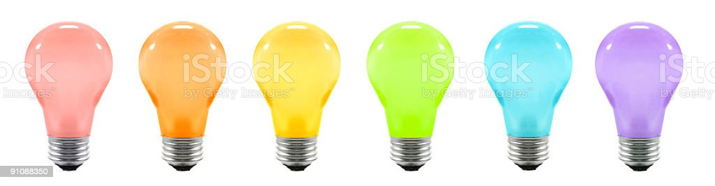 Light Bulb Banner royalty-free stock photo
