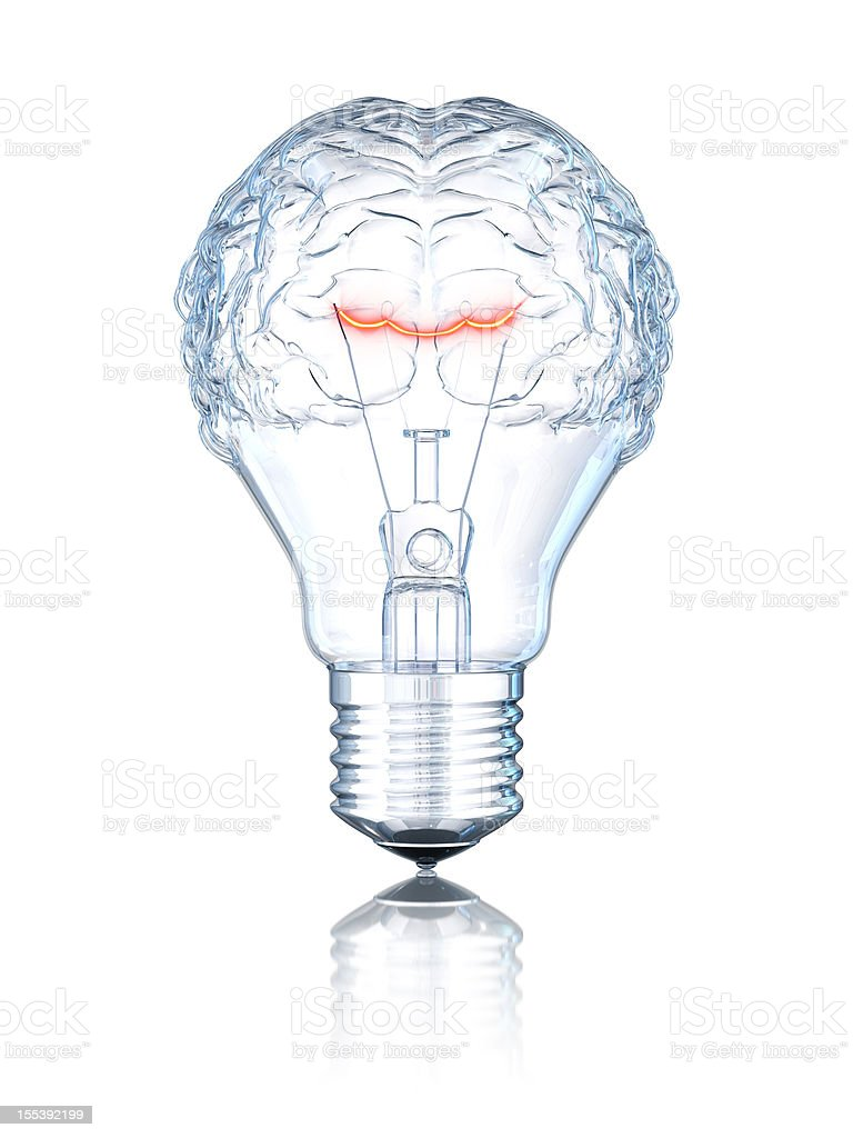Light Bulb Brain stock photo