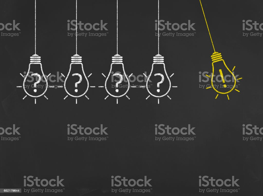 Light Bulb - Business Chalkboard Background stock photo