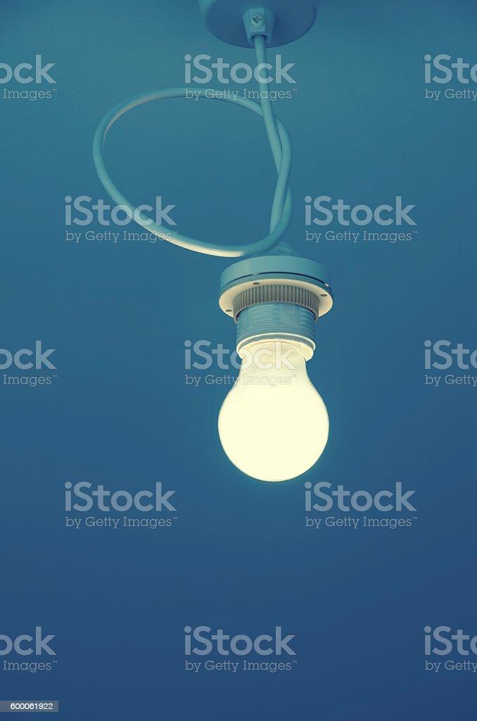 light bulb ceiling stock photo