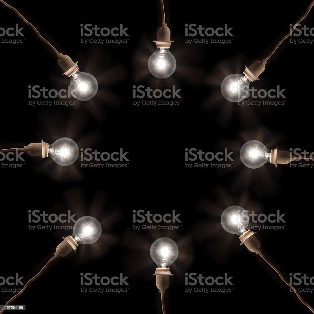 Light Bulb Circle stock photo