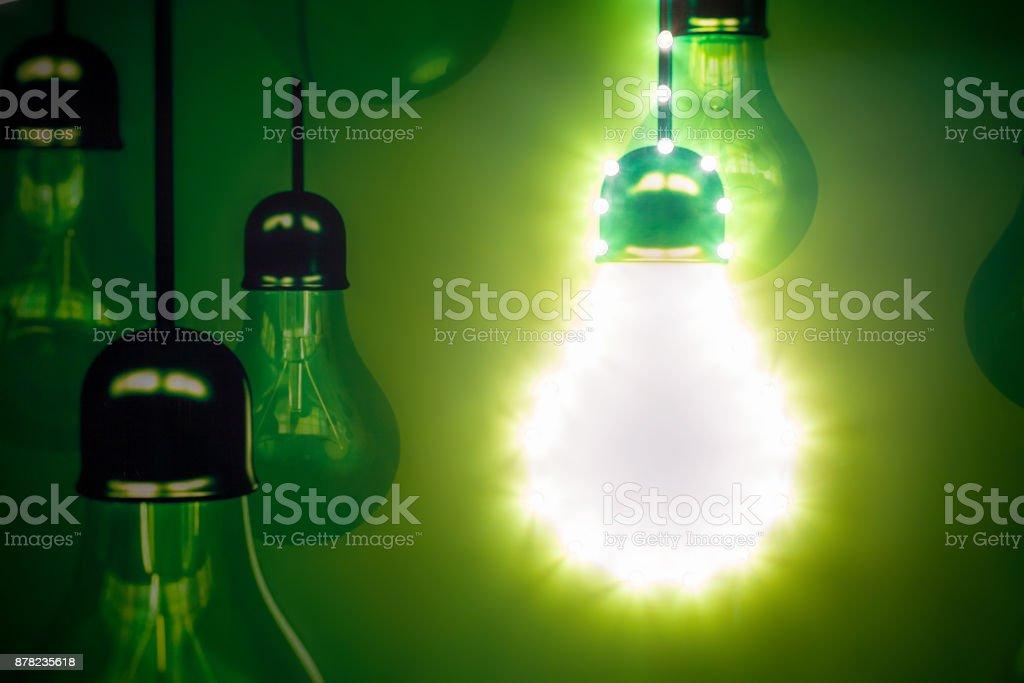 light bulb close-up, creative concept stock photo