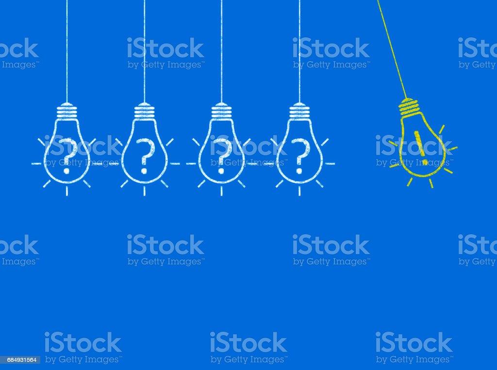 Light Bulb Concept - Business Chalkboard Background stock photo