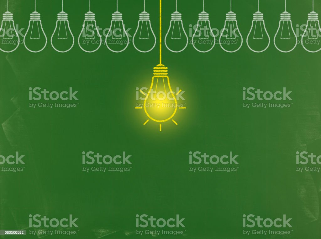 Light Bulb Concept - Business Chalkboard Background royalty-free stock photo
