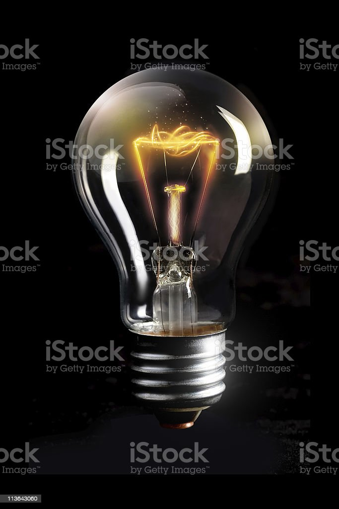 Light bulb concept royalty-free stock photo