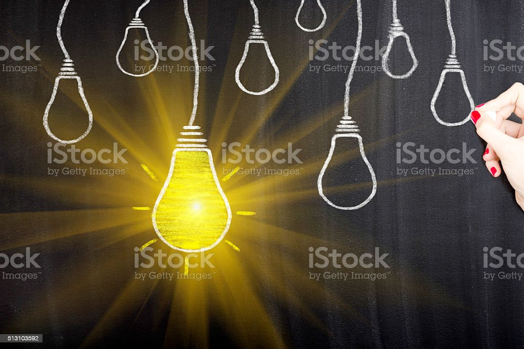 Light Bulb Concept stock photo