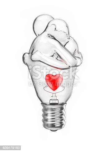 istock Light bulb couple 639479160