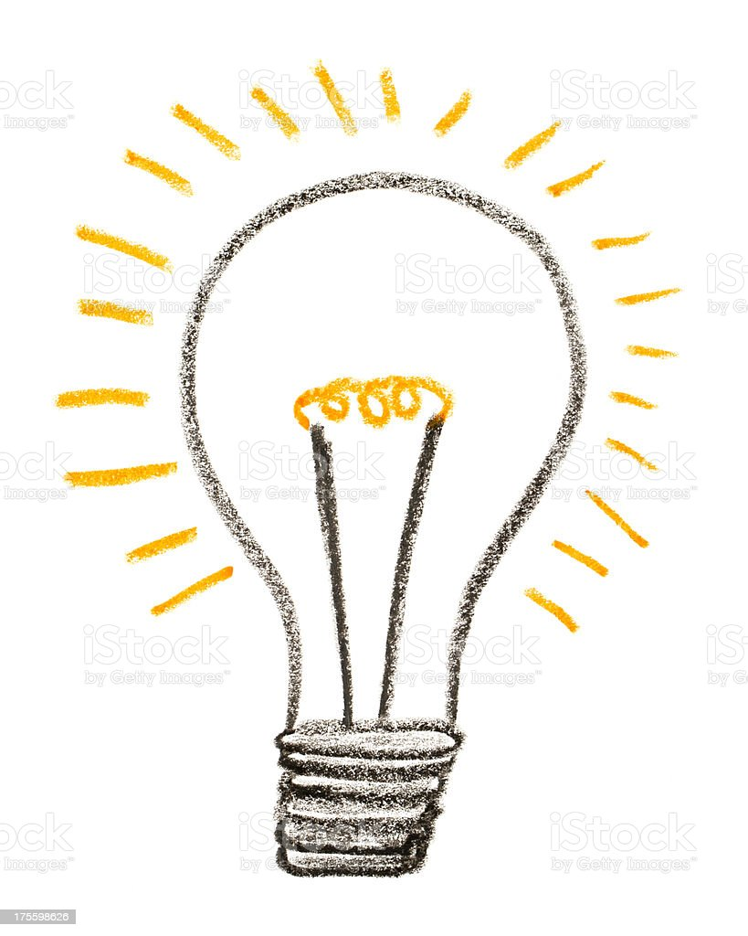 Light Bulb Drawing Stock Photo  for Lamp Bulb Drawing  56mzq