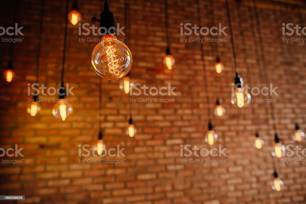 light bulb filament retro vintage royalty-free stock photo