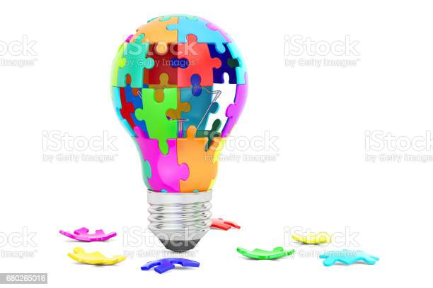 Light bulb from puzzle pieces idea and solution concept 3d rendering picture id680265016?b=1&k=6&m=680265016&s=612x612&h=eplffcmium30bd2 zyu0xgzjccy0vtt0mc8ahf  kqm=