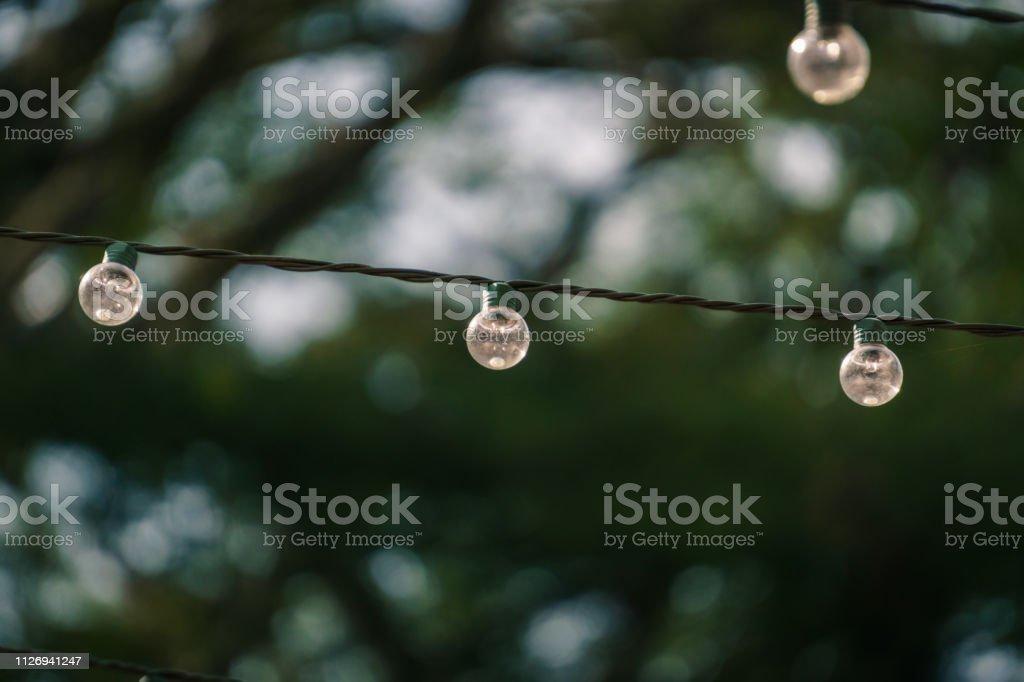 Light bulb hanging stock photo
