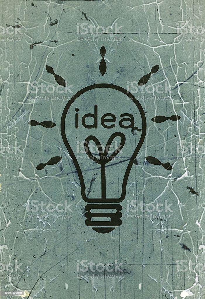 Light bulb idea in illustration royalty-free stock photo