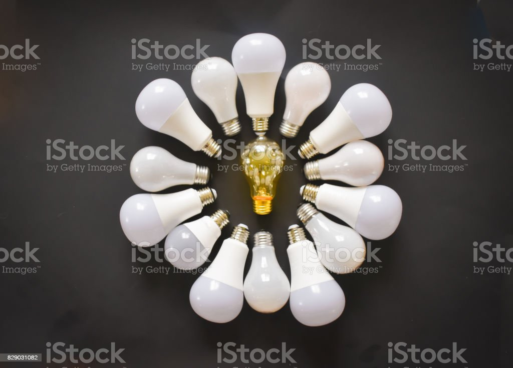 Light bulb Ideas stock photo