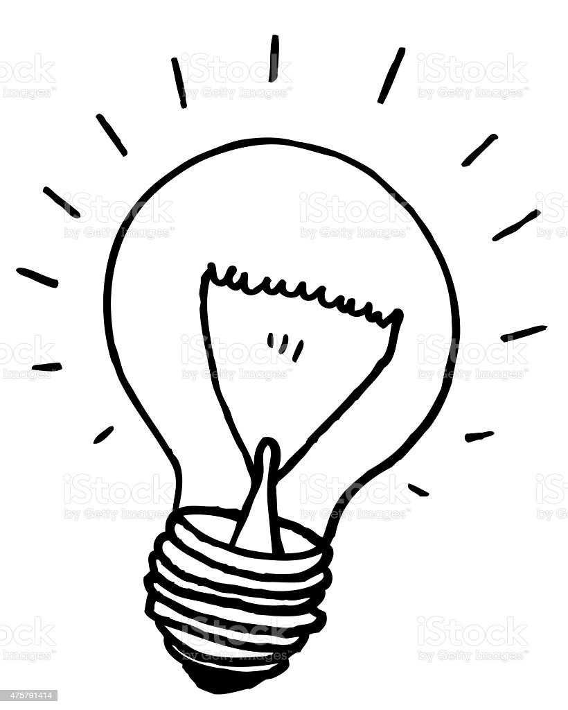 Light Bulb Illustration - Inspiration, Idea stock photo