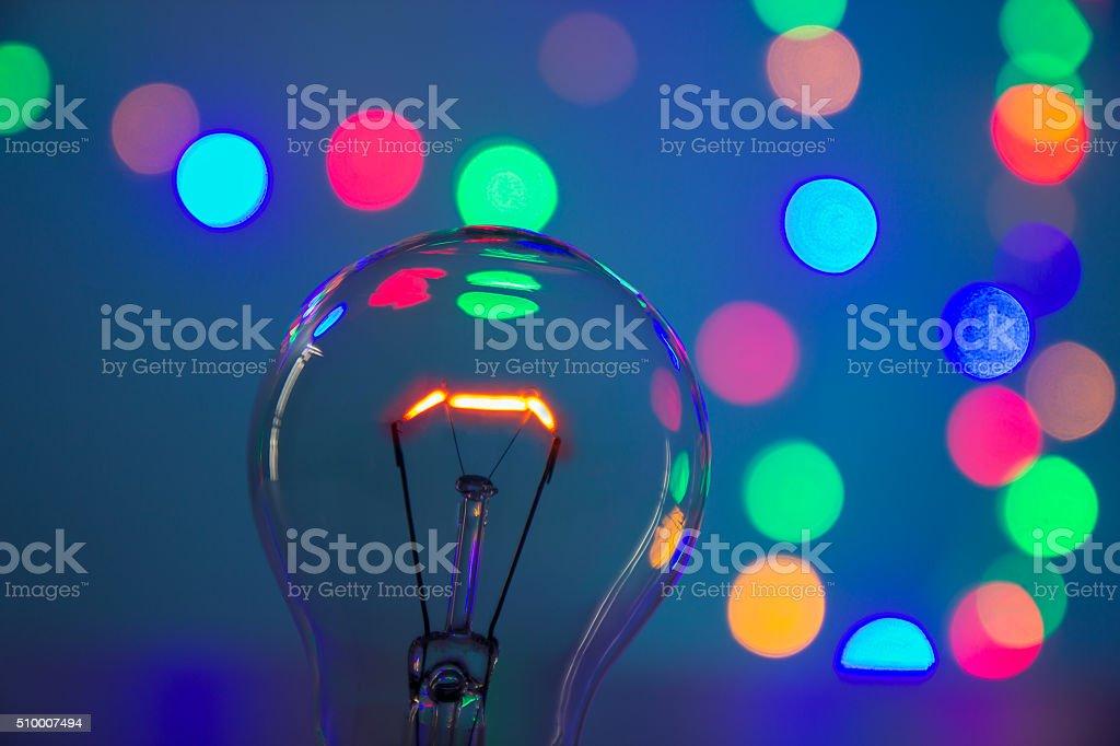 Glühbirne in Bokeh – Foto