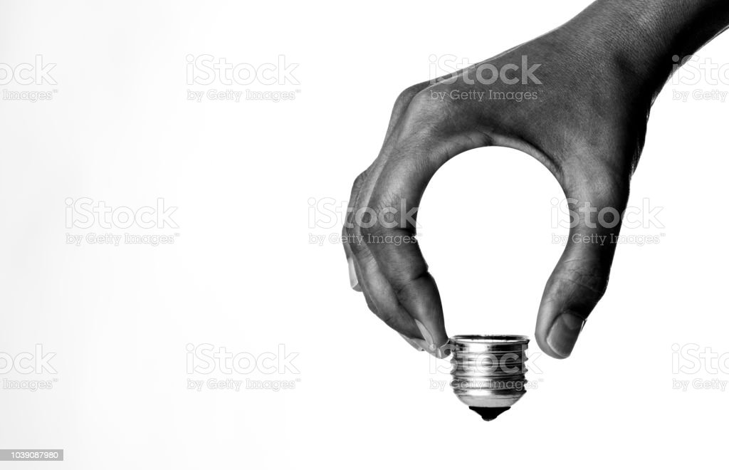 Glühbirne in der Hand – Foto