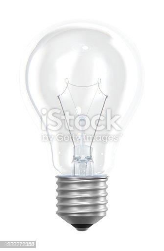 lightbulb, light bulb, white background, 3d rendering