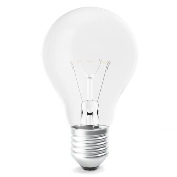 Ampoule isolé sur blanc backgorund, rendu 3d - Photo