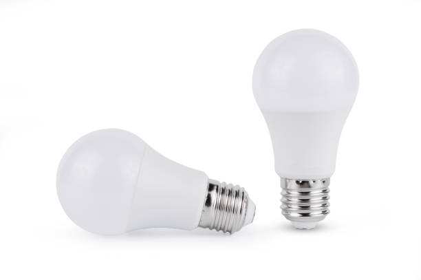 LED light bulb isolated on white background LED light bulb isolated on white background With clipping path canadian football league stock pictures, royalty-free photos & images