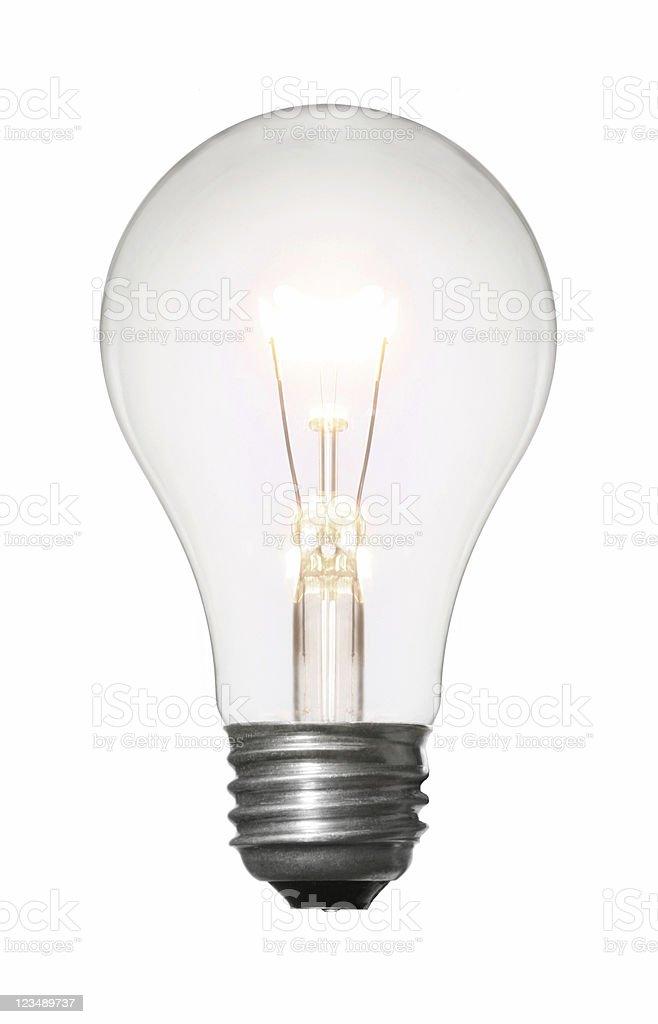 Light Bulb Isolated on White royalty-free stock photo