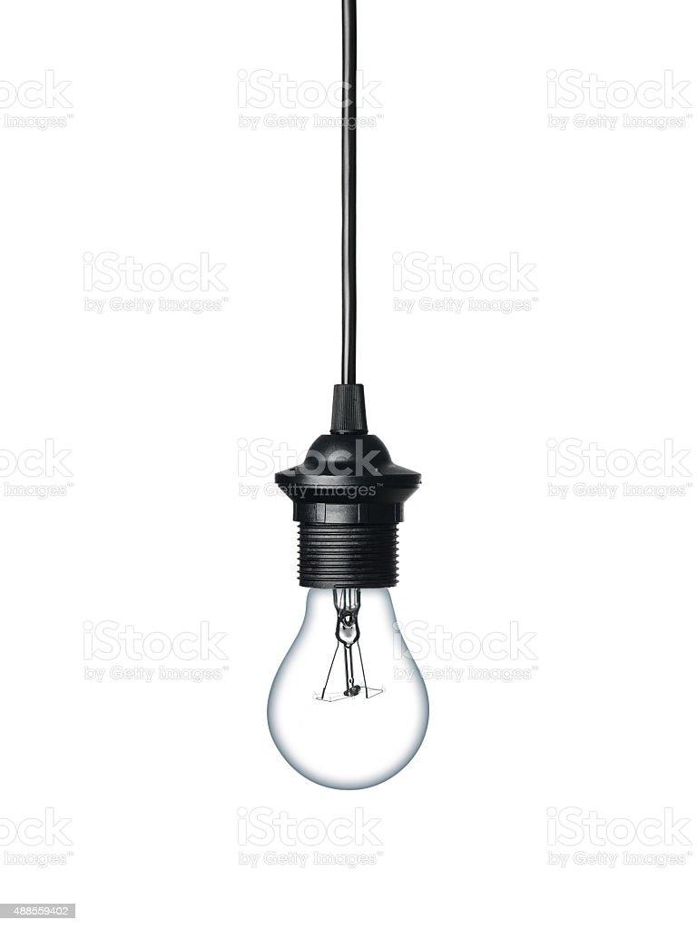 Лампа накаливания Изолирован на белом стоковое фото