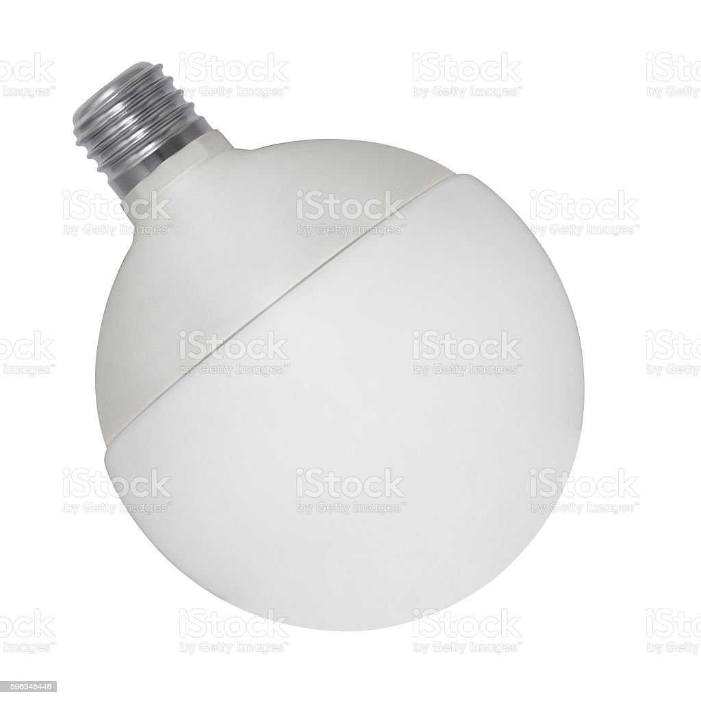 Light bulb, isolated on white Lizenzfreies stock-foto