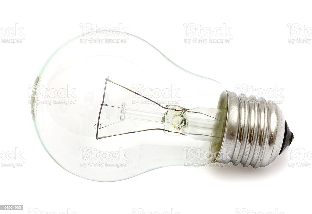 Light bulb isolated on white stock photo