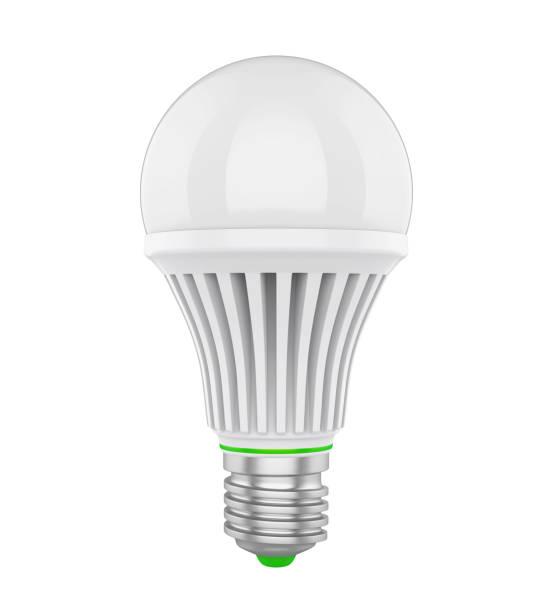 led-glühbirne, isoliert - glühbirne e27 stock-fotos und bilder