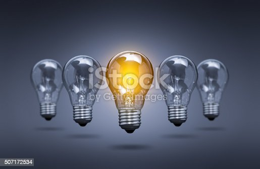 578276932 istock photo Light bulb lamps on a colour background. 507172534