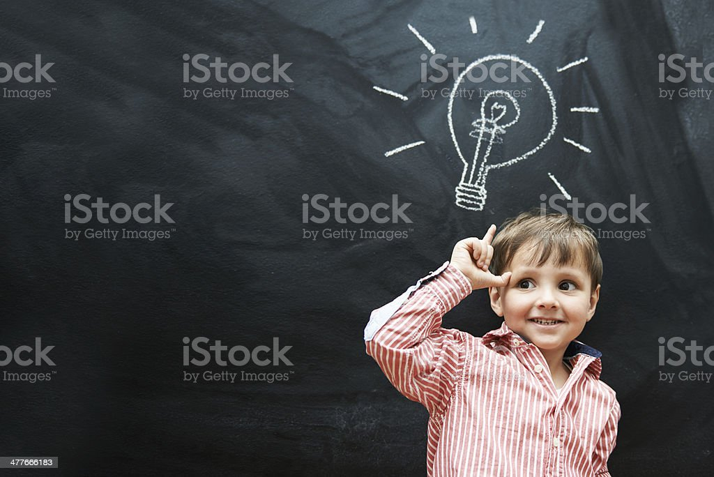 Light bulb moment! stock photo