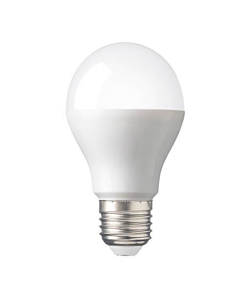 led glühbirne, neue technologie elektro lampe für speichern, umgebung - glühbirne e27 stock-fotos und bilder