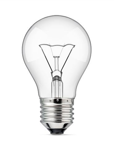 Light bulb on a white background.